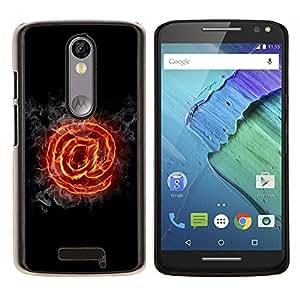 Caucho caso de Shell duro de la cubierta de accesorios de protección BY RAYDREAMMM - Motorola MOTO X3 3rd - Flaming A