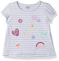 Gymboree Girls' Toddler Short Sleeve Fun Graphic Tee, Heather Grey Stripe, 12-18 Mo