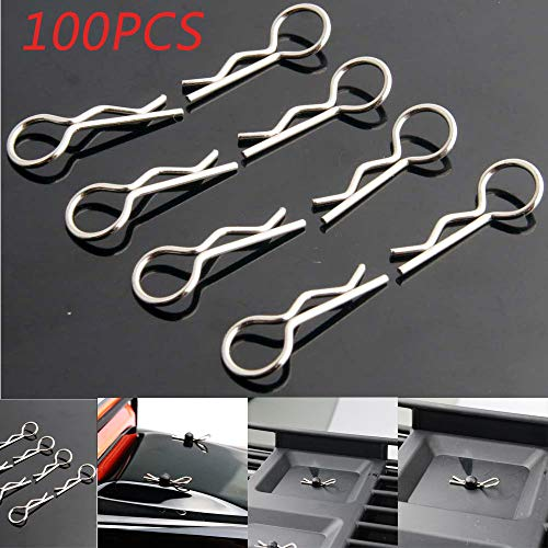 Hisoul Body Clips for 1:16 Apex RC Products Medium RC Car/Truck/Buggy Galvanized Steel Body Clips (100 -