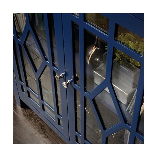 Sauder Shoal Creek Display Cabinet, Indigo Blue finish