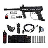 Tippmann 98 Custom Platinum Series Tactical Red Dot Paintball Gun Package - Black
