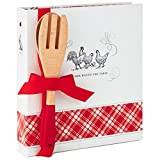Hallmark Farmhouse Recipe Organizer Book With Wooden Spoon and Fork