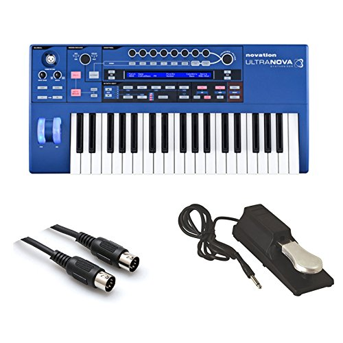 Price comparison product image Novation UltraNova Analog Modelling Synthesizer with MID-310BK 10Ft. MIDI Cable and KSP100 Sustain Pedal