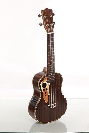 XIE@Palo de rosa de 23 pulgadas caja de la guitarra eléctrica guitarra pequeña ukelele