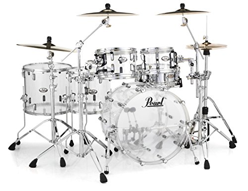 Pearl CRB525FP/C730 Crystal Beat 5 Piece Shell Pack, Ultra Clear (Cymbals/Hardware Sold Separately) (Pearl Acrylic Drums)