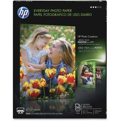 "Hewlett Packard (HP) Q8723A Glossy Everyday Photo Paper (8.5"" x 11"")"