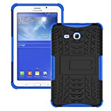 Galaxy Tab 3 Lite Case,T110 Case, Ngift [Blue] Heavy Duty Dual Layer Hybrid Shock Proof Fully Protective [Kickstand] Case for Samsung Galaxy Tab 3 Lite 7.0 SM-T110 / T111