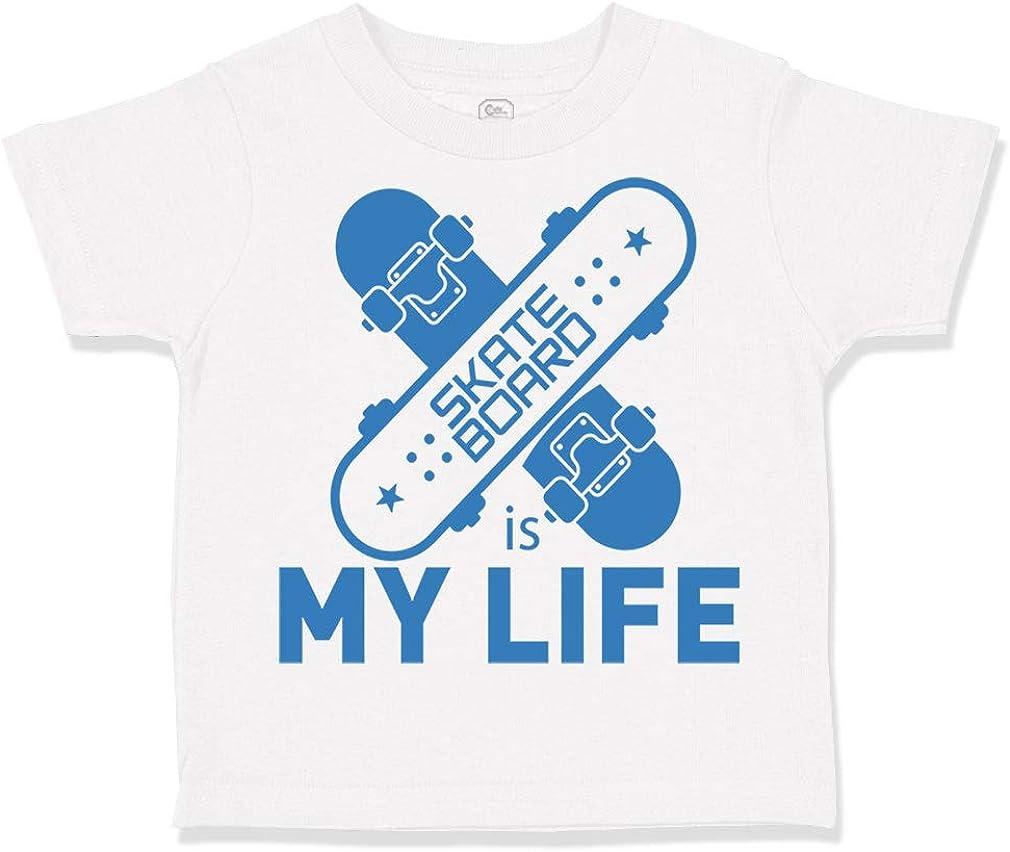 Custom Toddler T-Shirt Skateboard is My Life Sport Cotton Boy /& Girl Clothes