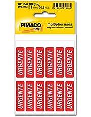 Etiqueta autoadesiva urgente OP1341 Pimaco, BIC, 886592, Vermelho, pacote de 5