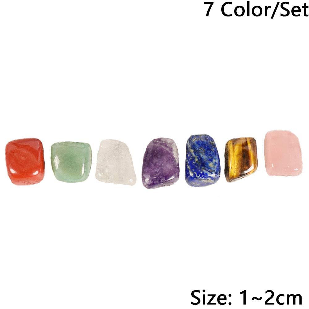 Axing Chakra Piedras ca/ídas decoraci/ón del hogar Naturales Piedras Preciosas Irregulares Minerales Cristales Tumbled Reiki-7PCS Roca Yoga//Set