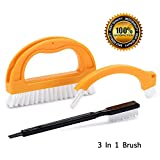 Tile Joint Cleaning Brush Grout Brush Tile Brush for Deep Cleaning - Great Use for Grout, Floor, Shower, Door Track, Stove Tops and Other Small Spaces