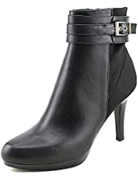 Radden2 Women Round Toe Leather Black Ankle Boot
