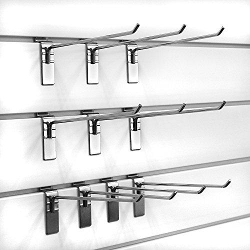 Chrome 10-Pack Proslat 39015 Evolia 12-Inch Hook for Slatwall