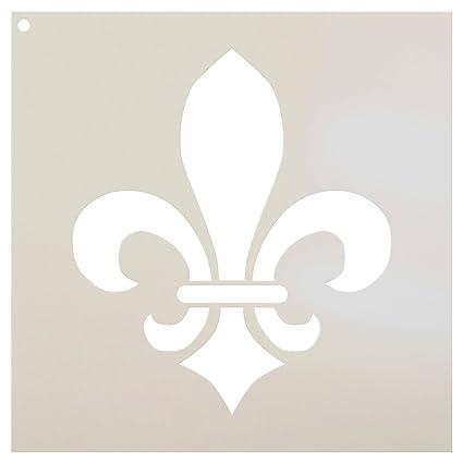 graphic regarding Fleur De Lis Stencil Printable identified as : Fleur De Lis Stencil by means of StudioR12 Versailles