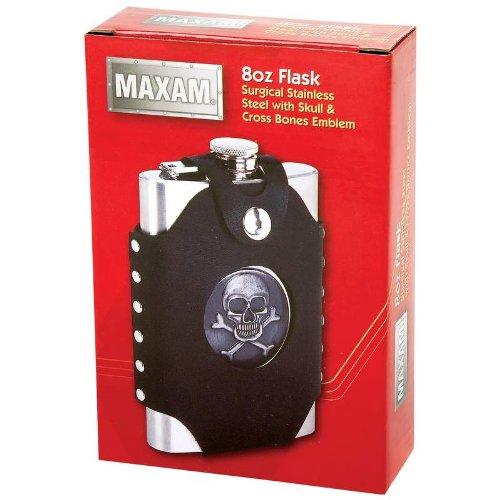 Maxam® 8Oz Skull & Cross Bone -