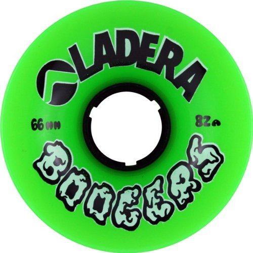 Ladera Boogers Green Longboard Wheels - 66mm 82a (Set of 4) (Ladera Skateboards)