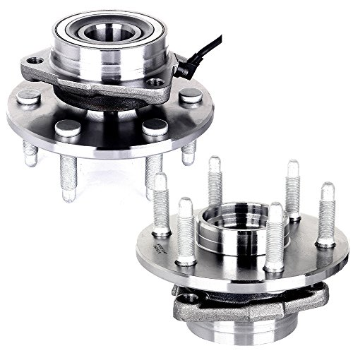 ECCPP Replacement fit for 515036 Brand New Complete Front Wheel Hub Bearing Assembly Escalade, Express, Savana, Sierra, Yukon, 2000-07 GMC/Chevy Trucks 4x4 6 Lug W/ABS 4WD (515036 x2) (Wheels Yukon Oem)