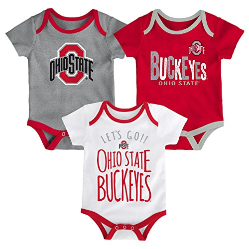 Gen 2 NCAA Ohio State Buckeyes Newborn & Infant Little Tailgater Bodysuit, 6-9 Months, Red