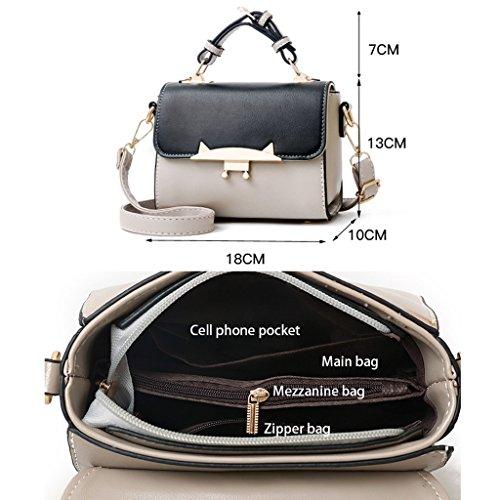 del de Caqui popular PU señoras cuero bolso de El la caqui Caqui ocio de 18 Color más bolso hombro las de 13cm color de de mensajero 10 wxCPOIq4