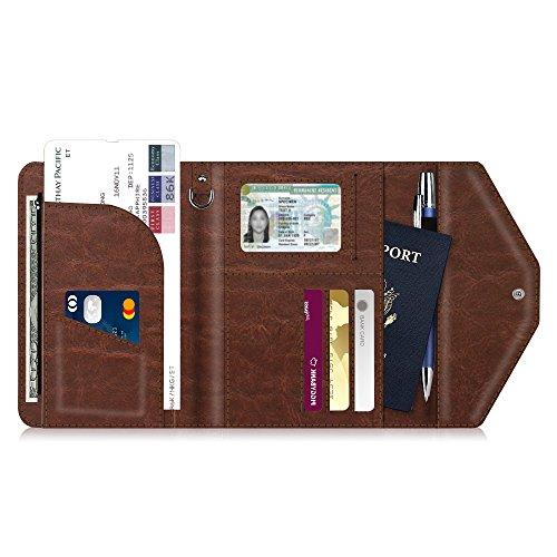 Multi-Purpose Passport Holder Wallet, Fintie Trifold RFID Blocking Travel Document Organizer Case, ()