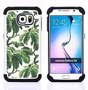 For Samsung Galaxy S6 G9200 - summer tree leaves wallpaper pattern Dual Layer caso de Shell HUELGA Impacto pata de cabra con im??genes gr??ficas Steam - Funny Shop -