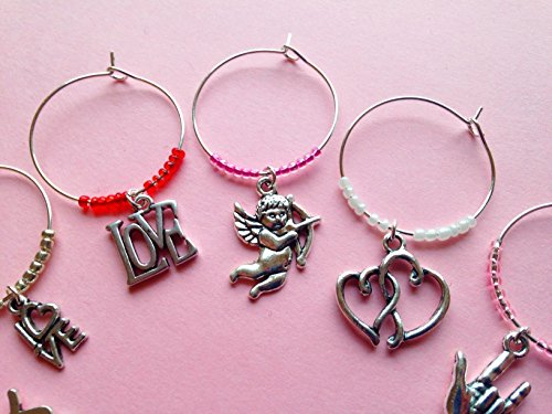 Valentines themed Wine Charms Valentine product image
