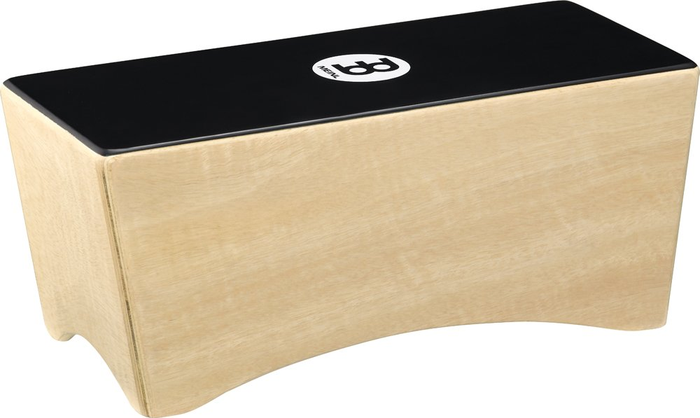 Meinl Bongo Cajon Box Drum with Internal Snares - NOT MADE IN CHINA - Ebony Black Playing Surface and Hardwood Body, 2-YEAR WARRANTY (BCA2NT/EBK-M)