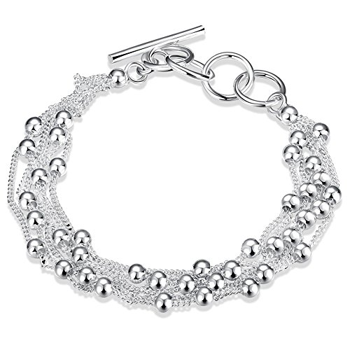 Reviance Silver Bracelets for Women Adjustable Silver Plated Chain Jewelry Wedding Gifts