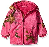 Carhartt Baby Girls' Sherpa Lined Camo Redwood Jacket, Realtree Xtra Pink, 24 Months