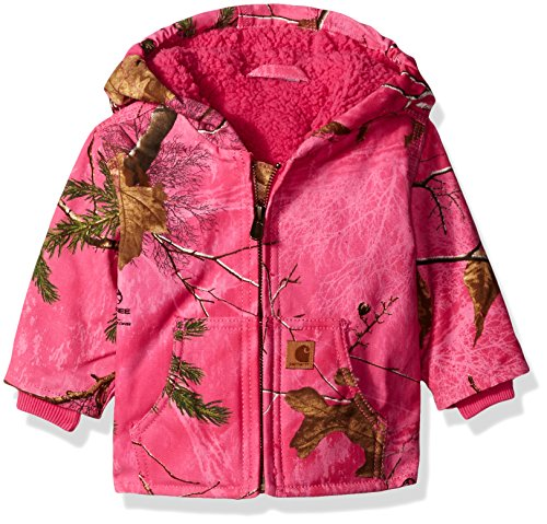 Sherpa Lined Camo Redwood Jacket, Realtree Xtra Pink, 6 Months ()
