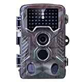 Trail Camera - Game Trail Camera, Kuman 12MP 1080P HD Wildlife Hunting Camera with 2.4'' TFT LCD, IP56 Waterproof No Glow Infrared 120°Wide Angle Night Vision Scouting H801