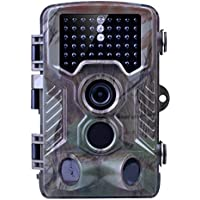 Game Trail Camera, Kuman 12MP 1080P HD Wildlife Hunting Camera with 2.4 TFT LCD, IP56 Waterproof No Glow Infrared 120°Wide Angle Night Vision Scouting H801