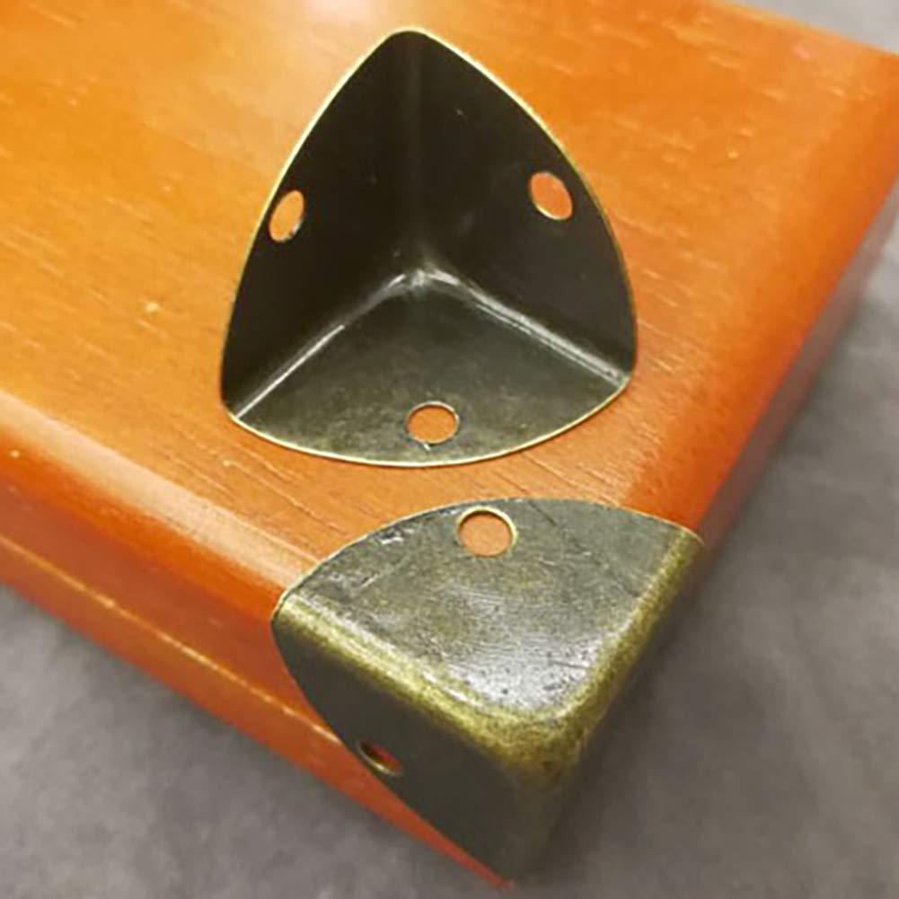 HooAMI 12 Pcs//20pcs Protecteurs en M/étal Bronze pour Coins de Livre Album Trousse de Protection dangle