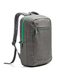Laptop Backpack, Evecase Lightweight Nylon Water Resistant Multipurpose Laptop Backpack - fits up to 15.6-inch Laptop - Gray