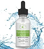 Hyaluronic Acid Serum for Skin & Face with Vitamin C & E, MSM, Aloe Vera, Jojoba Oil – Deeply Hydrates, Plumps Skin, Reduces Fine Lines & Wrinkles | Anti Aging Serum, All Organic Essentials 1 Oz