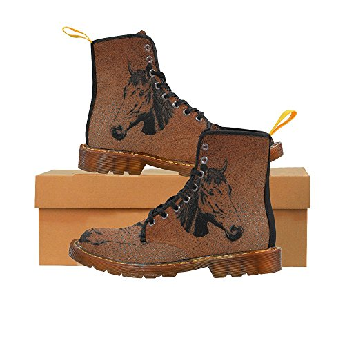 LEINTEREST Horse Martin Boots Fashion Shoes For Women