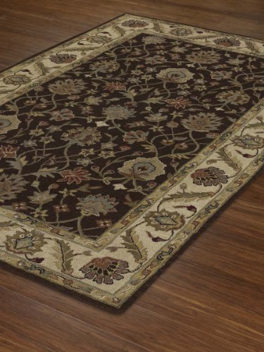 Dalyn Rugs Jewel JW33 Chocolate Ivory Hand Tufted Rug, 2-Feet 3-Inch by 8-Feet