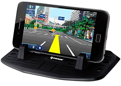 Price comparison product image Second Generation,IPOW Car Silicone Pad Dash Mat Cell Phone Mount Holder Cradle Dock For Phone Samsung Galaxy S8/S7/S6/S5/S4 edge 7,iPhone 7/6/6S(plus) SE,Table PC Holder With 2 Size Holder Parts