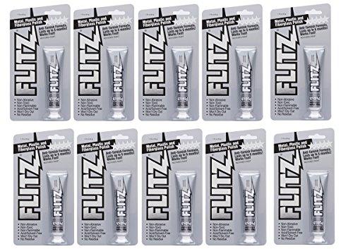 Flitz BP 03511-10A-10PK Metal, Plastic and Fiberglass Polish Paste, 1.76 oz. Blister Tube, 10-Pack