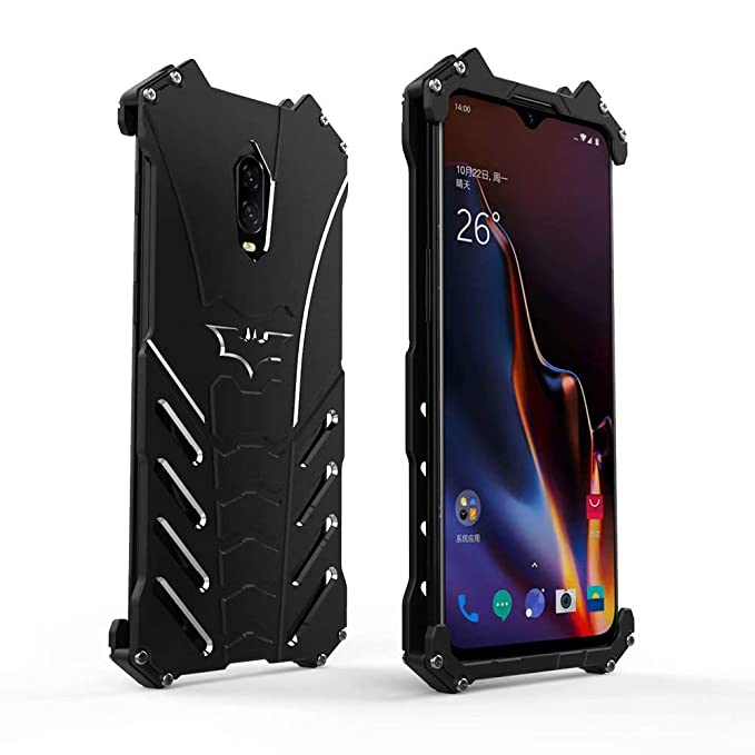 best loved bc54b 3fc3c HikerClub OnePlus 6T Case Batman Metal Bumper Aluminum Alloy Shell Armor  Military Grade Defender Heavy Duty Sturdy Frame Shockproof Edge Protective  ...