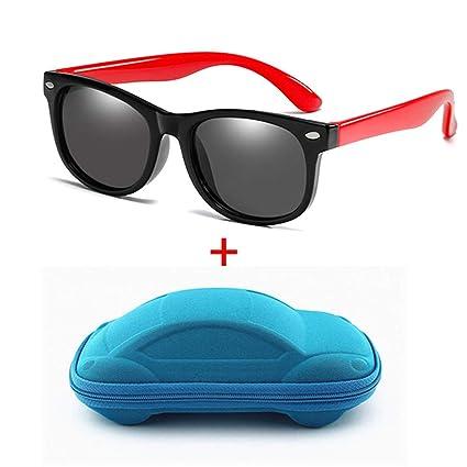 KOMNY Gafas de Sol polarizadas Niños Bebés Niños Niñas Gafas Flexibles Marco Cuadrado Bebé UV400 Gafas