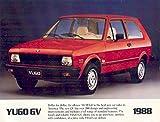 1988 Yugo USA GV Brochure Fiat
