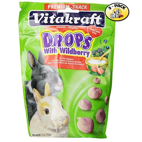 Vitakraft Wild Berry Drops for Rabbits - 3 PACK