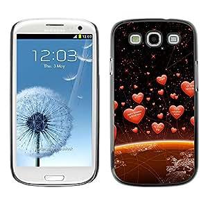 Las amor Diferentes Idiomas En La Tierra - Metal de aluminio y de plástico duro Caja del teléfono - Negro - Samsung Galaxy S3