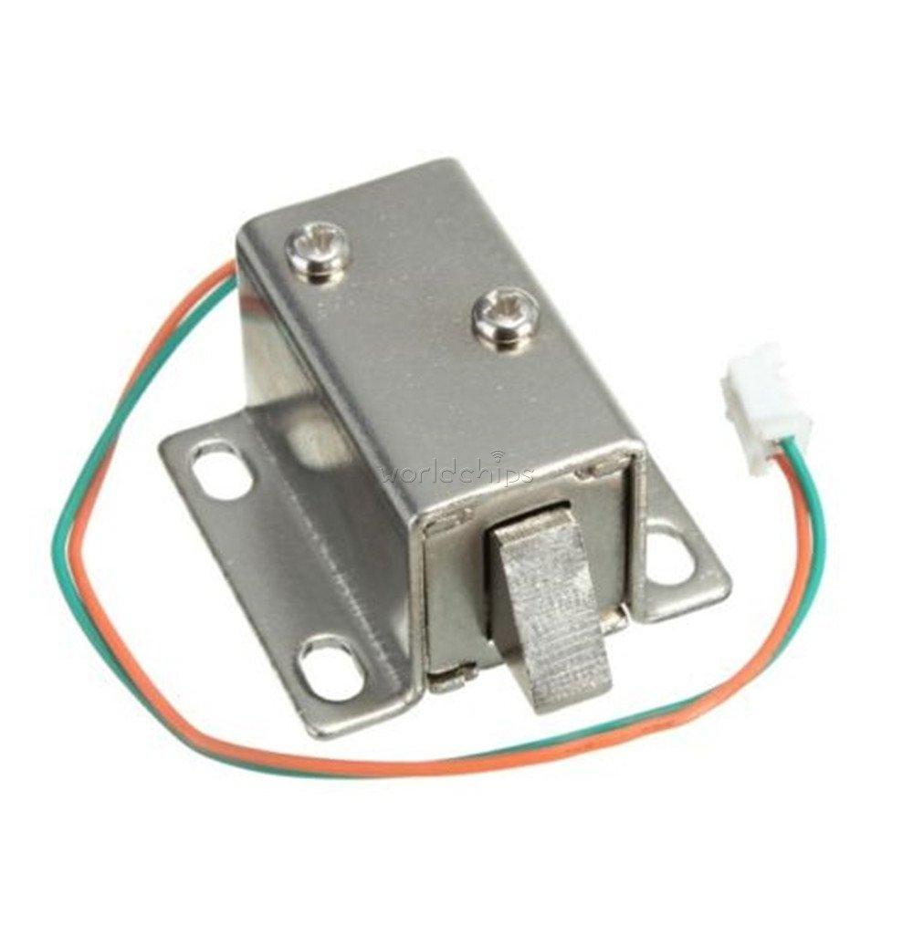 DC 12 V電動ソレノイドロック舌Upwardアセンブリソレノイドモジュールwith Matchingワイヤのドアキャビネット引き出し B076KYSD65