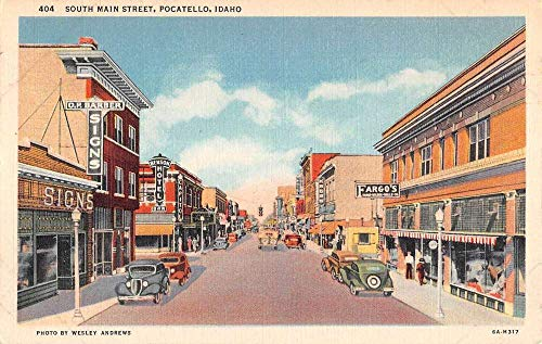 Pocatello Idaho South Main Street Scene Antique Postcard K98867