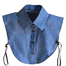 Norbi Women Vintage Lace Detachable Fake Half-Shirt Collar