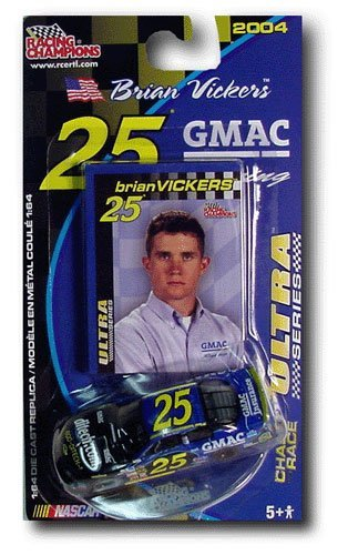 Racing Champions Nascar Ultra series 2003 #5 Brian Vickers 1/64 scale diecast replica and collectible card chase the ()