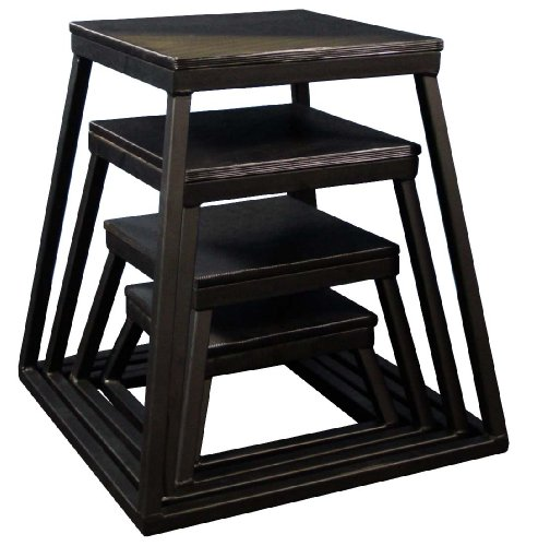 Plyometric Platform Box Set- 6'', 12'', 18'', 24'' Black by Ader Sporting Goods