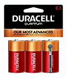 Duracell - Quantum C Alkaline Batteries - long lasting, all-purpose C battery for household and business - 3 count